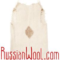 Жилет Суконный из натуральной шерсти удлиненный Ромбик Беж