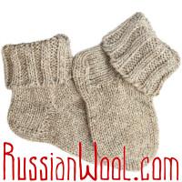 Носки ЧШ ручной вязки женские светло-серого цвета