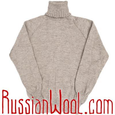 Свитер Городской-Лайт гладковязаный серый, разные размеры