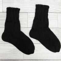 Носки Ruswool вязаные черные шерсть/мохер, большие размеры