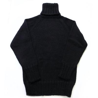 Свитер черный шерсть/мохер L удлиненный