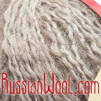 Варежки Лада с косами, мохер, натуральные