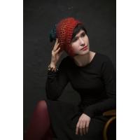 Дизайнерская шапка из шерсти премиум-класса