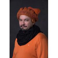 Оригинальная вязаная шапка унисекс