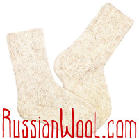 Носки Меланж Голд, ручной вязки, шерстяные