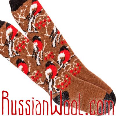 Гольфы Снегири медно-рыжие