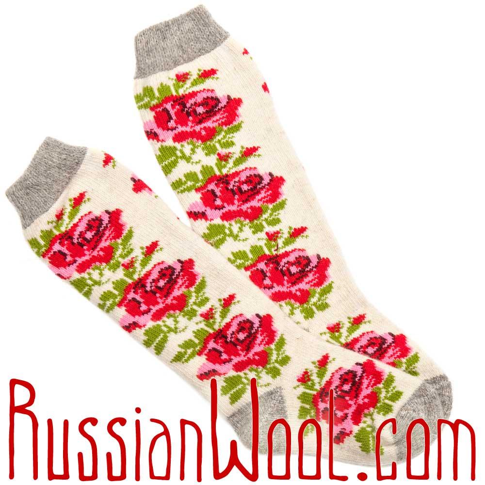 Купить высокие шерстяные носки женские