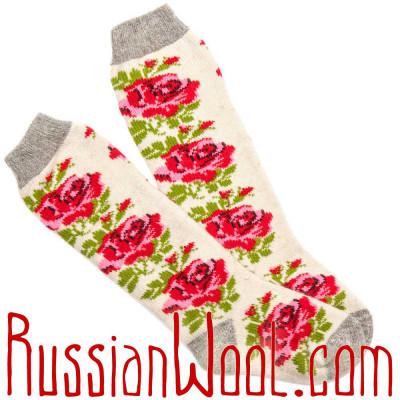 Женские шерстяные носки-гольфы