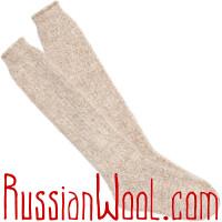 Комплект Коза Элеганс золотистый: пуховые гольфы и перчатки для женщин