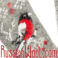 Гольфы Снегири пуховые серые