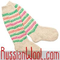 Высокие шерстяные носки-гольфы