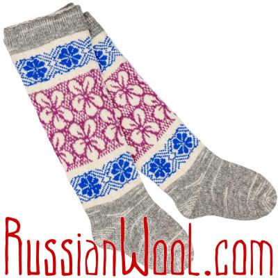 Высокие шерстяные носки