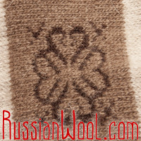 Чулки из монгольского пуха, цвета загара