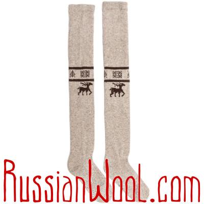 Чулки из монгольского пуха, светло-серые