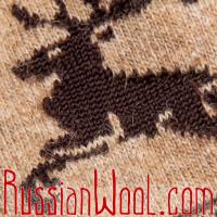 Гольфины из монгольского пуха, серые с узором