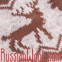Гольфины из монгольского пуха, серо-белые с узором