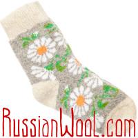 Детские носки Ромашки шерстяные