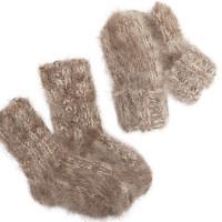 Варежки Пушистики для малышей, овечья шерсть с козьим пухом