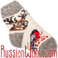 Носки со снегирями для детей до года
