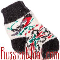 Носки со снегирями для малышей