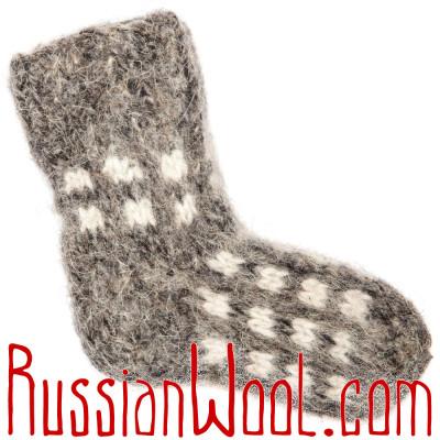 Детские носки-валенки ручной вязки