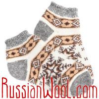 Носки Северная Звезда шерстяные белые короткие
