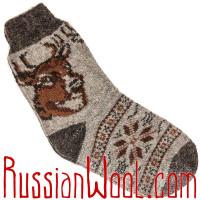 Мужские носки с оленем, темно-серые