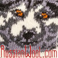 Носки Полярный волк шерстяные белые