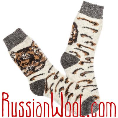 Мужские шерстяные носки Сила Тигра