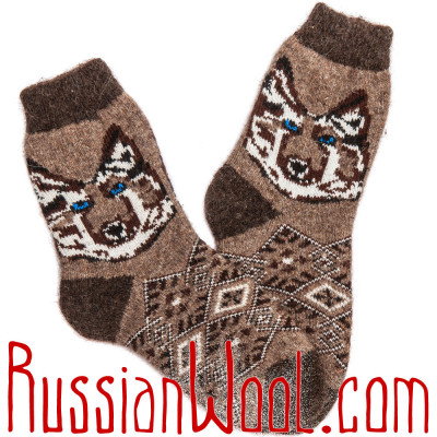 Мужские носки Тёмный Шоколад шерстяные