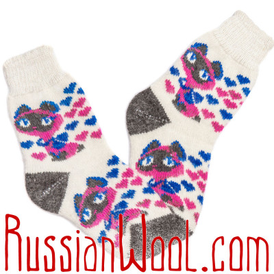 Котёнок Гав и его чудесные видения, шерстяные носки для женщин