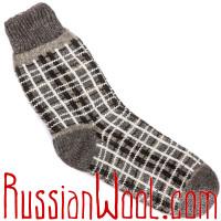 Носки клетчатые шерстяные мужские