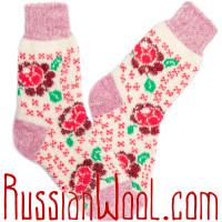 Комплект Клубника с Малиной: две пары пушистых носков