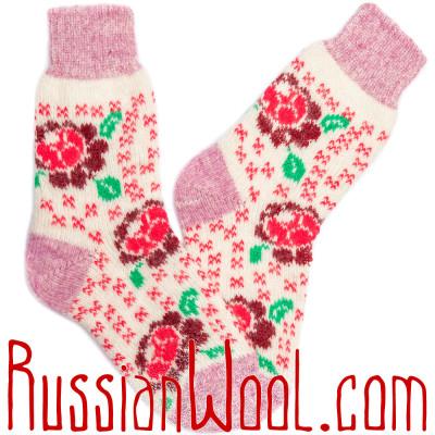 Носки Малина шерстяные с ангорой