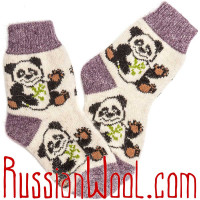 Комплект: валяные чуни плюс шерстяные носки, для женщин