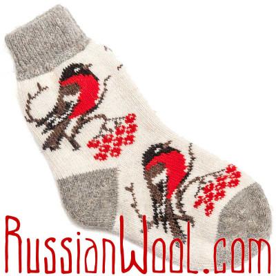 Носки Снегири шерстяные