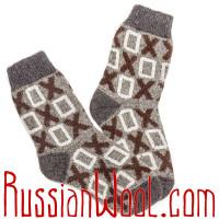 Комплект мужских носков из шерсти, серые, две пары