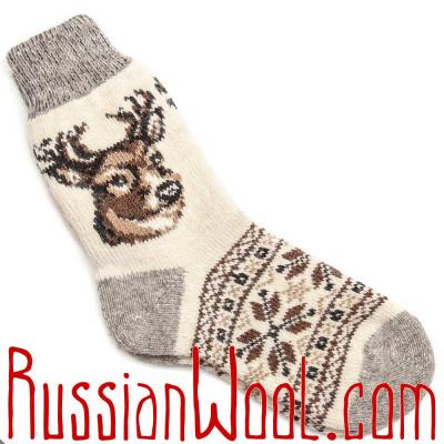 Носки Олень Лесной шерстяные белые