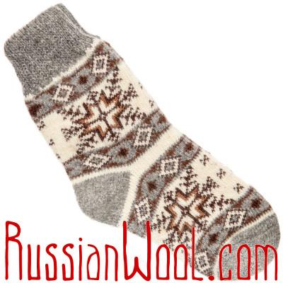 Носки шерстяные белые Северная Звезда