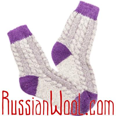 Носки Весенние Глициния женские полушерстяные