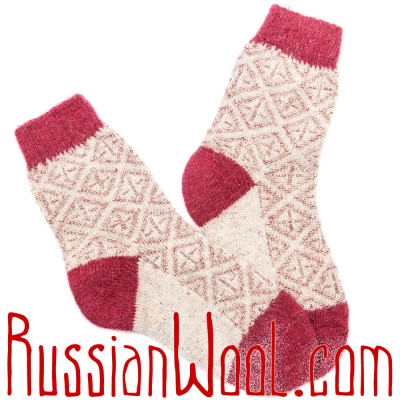 Носки Весенние Кармин женские полушерстяные
