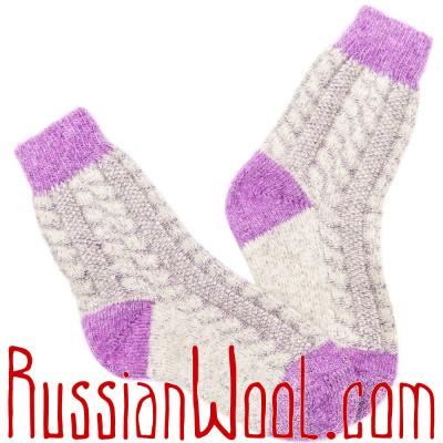 Носки Весенние Сирень женские полушерстяные