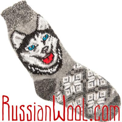 Носки Хаски шерстяные серые