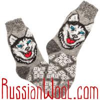 Комплект Хаски Шерсть: две пары носков