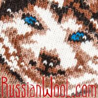 Носки Хаски шерстяные рыжие