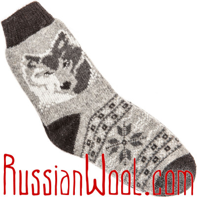 Носки Серый Волк шерстяные мужские