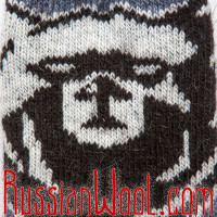Носки шерстяные мужские Медведь Джинсовый