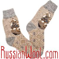 Носки шерстяные мужские Лайка рыжая