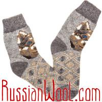 Носки шерстяные мужские Лайка серая