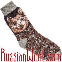 Комплект Лайки BW: мужские шерстяные носки с лайками